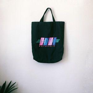 Motorola vintage tote bag